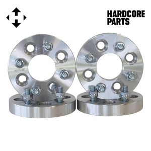 "4 QTY Wheel Spacers 1"" fits all 4x100 bolt patterns with 12x1.5 threads - Compatible with Acura Audi BMW Chevrolet Chrysler Dodge Honda Kia Toyota Volkswagen"