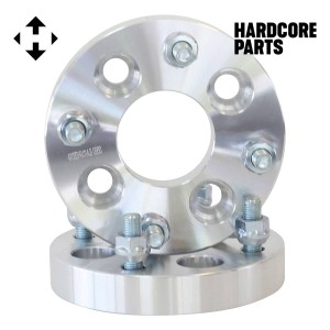 "2 QTY Wheel Spacers Adapters 2"" (1 inch Per Side) fits all 4x100 to 4x114.3 bolt patterns with M12 x 1.5 threads - Acura Audi BMW Chevrolet Chrysler Dodge Honda Kia Toyota Volkswagen"