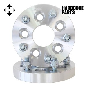 """2 QTY Wheel Spacers Adapters 1"""" 5x100 vehicle to 5x120.7 wheel bolt patterns with 12x1.5 threads - Compatible with Buick Chevrolet GMC Chrysler Dodge Jaguar Pontiac Suburu Toyota Volkswagen"""
