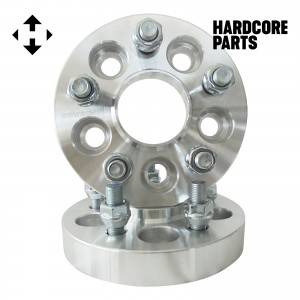 """2 QTY 5x110 1"""" Hub Centric Wheel Spacer Adapters Center Bore: 65.1mm Studs: 12x1.25"""