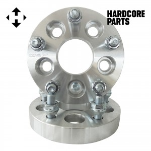 """2 QTY Wheel Spacers Adapters 1"""" 5x100 vehicle to 5x112 wheel bolt patterns with 12x1.5 threads - Compatible with Buick Chevrolet GMC Chrysler Dodge Jaguar Pontiac Suburu Toyota Volkswagen"""