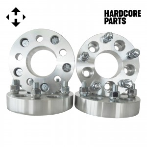"""4 QTY Wheel Spacers Adapters 1.25"""" 5x4.25 (5x108) to 5x4.5 (5x114.3) with 12x1.5 studs - Compatible with Ford Taurus Thunderbird Jaguar Lincoln Continental"""