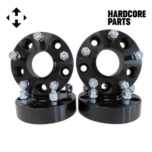 "4 QTY Black Wheel Spacers Adapters 1.5"" fits all 5x5 (5x127) Hubcentric vehicle to 5x5 wheel patterns with 1/2-20 threads - Compatible With Jeep Wrangler JK Rubicon"