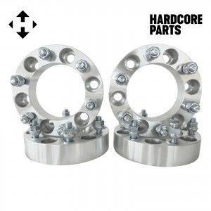 """4 QTY 1.5"""" 6x5.5 Silver Wheel Spacer Adapters 12x1.25 Studs - Fits Titan Xterra Frontier"""