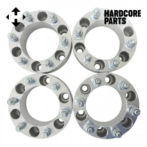"4 QTY Wheel Spacers Adapters 2"" 6x5.5 (6x139.7) bolt patterns with 12x1.5 threads - Compatible with Toyota Isuzu Chevroloet GMC Dodge Ford Honda Hummer Hyundai Isuzu Lexus Mazda Mitsubishi"