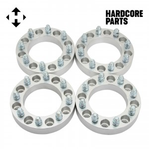 "4 QTY Wheel Spacers Adapters 3"" (1.5 inch Per Side) fits all 8x6.5 (8x165.1) vehicle to 8x180 wheel patterns with M14 - 1.5 threads - Chevy Express Silverado Suburban GMC Sierra Yukon Hummer H1 H2"