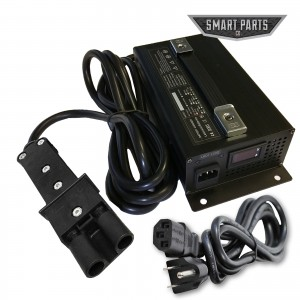 High Performance 48V 15 Amp Golf Cart Battery Charger - Fits Club Car Yamaha G19 G22 Connector, LED Display, 48 Volt