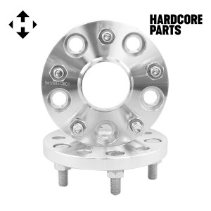 2 QTY Wheel Spacers Adapters 15mm (15 millimeter) fits all 5x4.5 (5x114.3) vehicle to 5x4.5 wheel bolt patterns with 12x1.5 threads - Compatible with Lexus Toyota