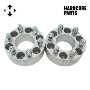 """2 QTY Wheel Spacers Adapters 2"""" fits all 6x4.5 (6x114.3) vehicle to 6x4.5 wheel patterns with 1/2-20 threads - Compatible with Durango Dakota"""