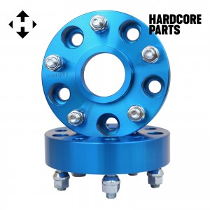 """2 QTY Blue Wheel Spacers Adapters 1.5"""" fits all 5x5 (5x127) Hubcentric vehicle to 5x5 wheel patterns with 1/2-20 threads - Compatible With Jeep Wrangler JK Rubicon"""