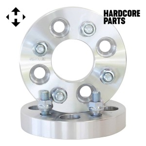 """2 QTY Wheel Spacers 2"""" (1 inch Per Side) fits all 4x100 bolt patterns with M12 x 1.5 threads - Acura Audi BMW Chevrolet Chrysler Dodge Honda Kia Toyota Volkswagen"""