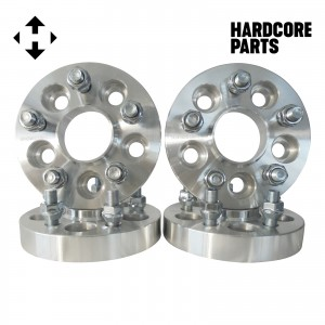 """4 QTY 5x110 1"""" Hub Centric Wheel Spacer Adapters Center Bore: 65.1mm Studs: 12x1.25"""