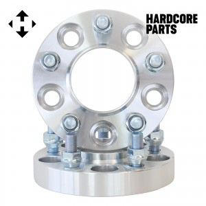 """2 QTY 1"""" 5x100 to 5x4.5 Hub Centric Wheel Spacer Adapters CB 56.1mm Stud 12x1.25"""