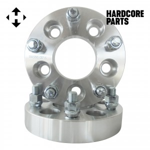 """2 QTY Wheel Spacers Adapters 1.25"""" 5x4.25 (5x108) to 5x4.5 (5x114.3) with 12x1.5 studs - Compatible with Ford Taurus Thunderbird Jaguar Lincoln Continental"""