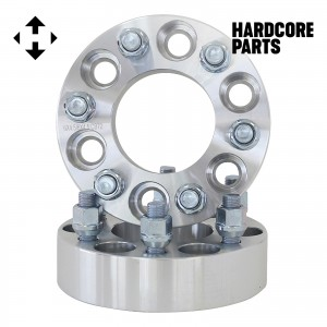 """2 QTY Wheel Spacers Adapters 1.5"""" fits all 6x4.5 (6x114.3) vehicle to 6x4.5 wheel patterns with 1/2-20 threads - Compatible with Durango Dakota"""