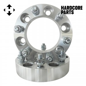 """2 QTY Wheel Spacers Adapters 1.5"""" fits all 6x5.5 (6x139.7) vehicle to 6x5.5 wheel patterns with 14x1.5 threads - Compatible with Toyota Isuzu"""