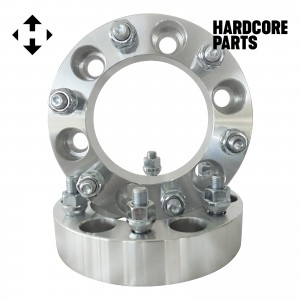 """2 QTY 1.5"""" 6x5.5 Silver Wheel Spacer Adapters 12x1.25 Studs - Fits Titan Xterra Frontier"""