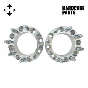 "2 QTY Wheel Spacers Adapters 1.5"" fits all 8x170 vehicle to 8x170 wheel patterns with 14x1.5 threads"