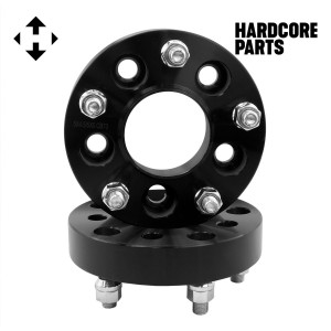 """2 QTY Black Wheel Spacers Adapters 2"""" fits all 6x135 vehicle to 6x135 wheel patterns with 14x2 threads"""
