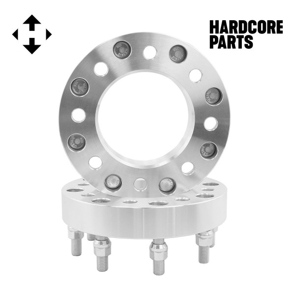 "2p 1.5/"" 8x6.5 to 8x180 Adapter Wheel Spacers For 2007-2010 GMC Sierra 3500 HD"